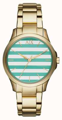Armani Exchange Hampton Ladies Smart Gold Bracelet AX5233