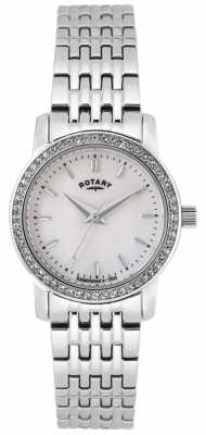 Rotary Womens Sloane, Gold Plate, Blue dial, Crystal LB02460/07