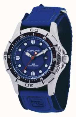 Kahuna Blue Strap & Dial Polished Metal Case Watch K5V-0001G