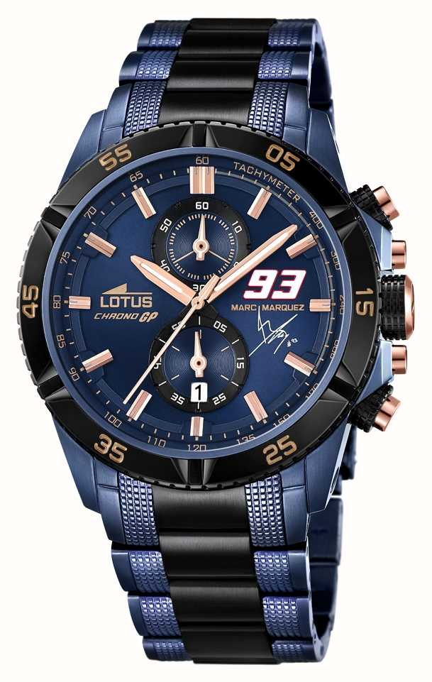 485e8317fae6 Lotus Limited Edition Marc Marquez Blue Black PVD L18230 1 - First ...