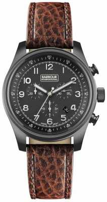 Barbour Mens Byker Brown Chronograph Watch BB033GNBR