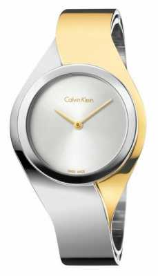 Calvin Klein Womens Senses, Two Tone, Gold & Steel Watch K5N2M1Y6