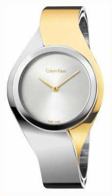 Calvin Klein Womens Senses, Two Tone, Gold & Steel Medium Watch K5N2M1Y6
