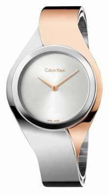 Calvin Klein Womens Senses, Two Tone, Rose Gold (Medium) K5N2M1Z6