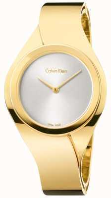 Calvin Klein Womens Senses, Gold Plate Watch K5N2S526