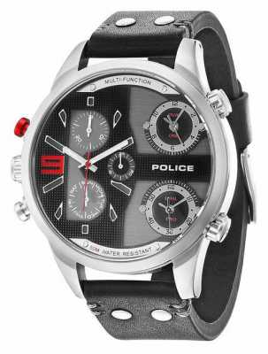 Police Mens Copperhead Black Chronograph Watch 14374JS/02