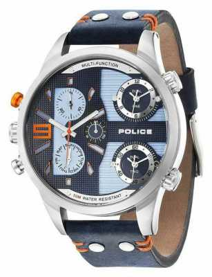 Police Mens Copperhead Blue Chronograph Watch 14374JS/03