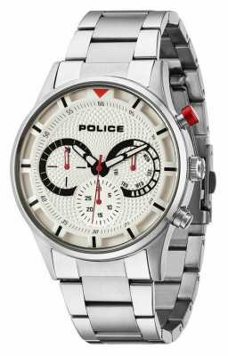 Police Mens Driver Silver Chronograph Watch 14383JS/04M