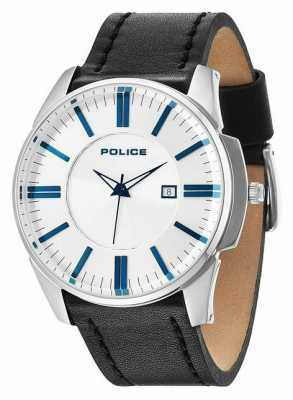 Police Mens Governor Silver Black Watch 14384JS/04