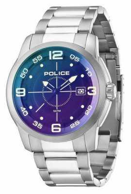 Police Mens Sniper Black Silver Watch 14386JS/02MA