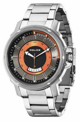 Police Mens Trooper Grey Silver Watch 14382JS/61M