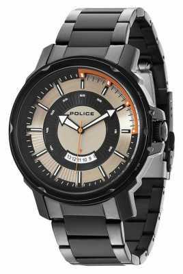 Police Mens Trooper Silver Black Watch 14382JSB/04M