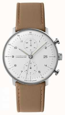 Junghans Max Bill Chronoscope | Tan Calf Leather Strap | 027/4502.04