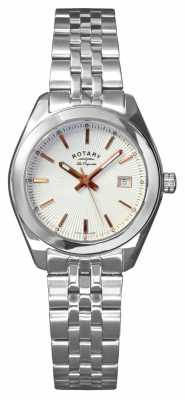 Rotary Womens Lausanne, Steel, Rose Gold Tone LB90110/06