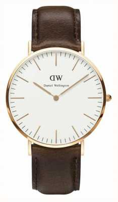 Daniel Wellington Mens Classic Bristol 40mm Rose Gold Brown DW00100009