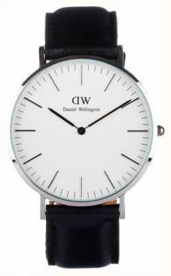 Daniel Wellington Mens Classic Sheffield 40mm Black Silver DW00100020