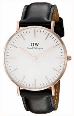 Daniel Wellington Unisex Classic Sheffield 36mm Rose Gold Black DW00100036