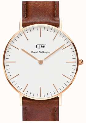 Daniel Wellington Unisex Classic St Mawes 36mm Rose Gold Brown DW00100035