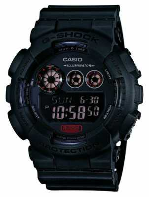 Casio Mens G-Shock Matt Black Resin Strap GD-120MB-1ER
