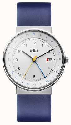 Braun Unisex Classic Dual Time Watch BN0142WHBLG
