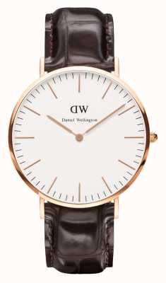 Daniel Wellington Mens Classic York 40mm Rose Gold DW00100011