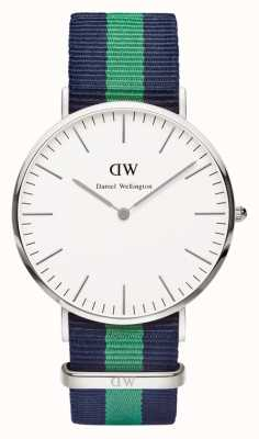 Daniel Wellington Mens Classic Warwick 40mm Blue Green Silver DW00100019