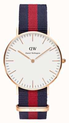 Daniel Wellington Unisex Classic Oxford 36mm Rose Gold Blue Red DW00100029