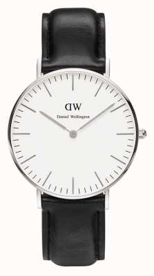 Daniel Wellington Unisex Classic Sheffield 36mm Silver Black DW00100053