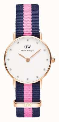 Daniel Wellington Womens Classy Winchester 26mm Rose Gold Blue DW00100065