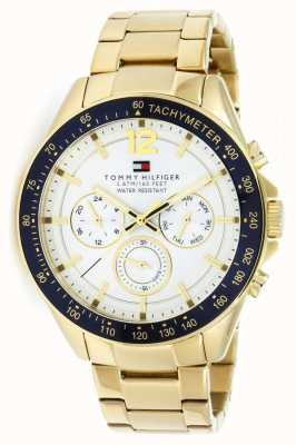 Tommy Hilfiger Mens Luke Gold Tone Watch | Gold metal strap | 1791121
