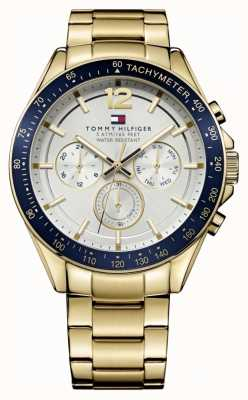 Tommy Hilfiger Men's Luke Watch | PVD Case | Gold Stainless Steel Strap | 1791121