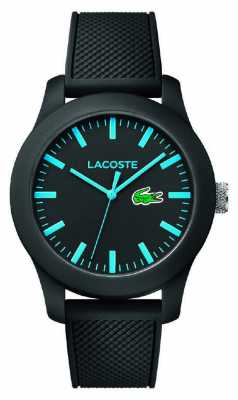 Lacoste Black Watch With Blue Accents 2010791