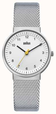 Braun Ladies Watch | Stainless Steel Mesh Strap | White Dial | BN0031WHSLMHL