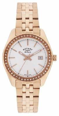Rotary Womens Lausanne, Rose Gold, Crystal Watch LB90112/01
