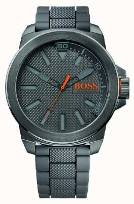 Hugo Boss Orange New York Grey Silicone 1513005