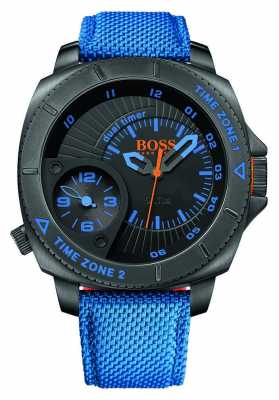 Hugo Boss Orange Blue Canvas Mens Black Dial 1513209