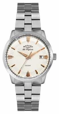 Rotary Mens Regent, Steel, Rose Gold Accent Watch GB90112/06