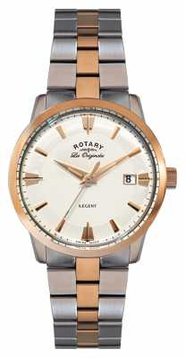 Rotary Mens Regent, Two Tone, Rose Gold Watch GB90114/06