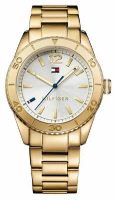 Tommy Hilfiger Womens Gold Tone Silver Dial 1781268