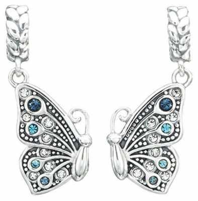 Chamilia True Blue Friendship - Butterfly Charm - Sterling Silver with Blue Multi Swarovski Crystal 2025-1428