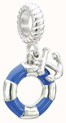 Chamilia Anchors Away - Anchor & Raft - Sterling Silver with Blue Enamel 2020-0800