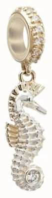 Chamilia Seahorse - Sterling Silver and 14K Gold with Swarovski Zirconia 2230-0020