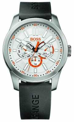 Hugo Boss Orange Mens Black Rubber Strap Stainless Steel Case 1512934