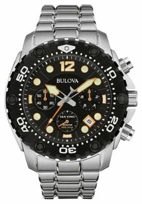 Bulova Mens UHF Sea King Blue Dial, Black Bezel 98B244