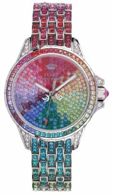 Juicy Couture Womens Stella, Stone Set, Multicolour Watch 1901264