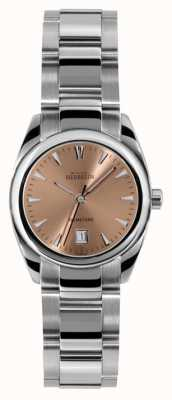 Michel Herbelin EX Display Womens Ambassador, Pink Dial, Steel Watch 12828/B18