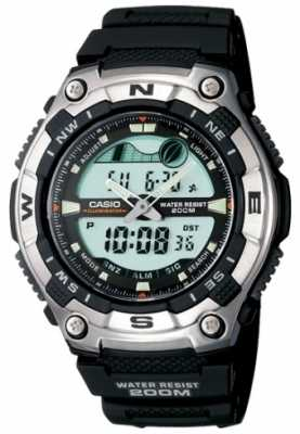 Casio Mens Resin Combi Sports Alarm AQW-100-1AVEF