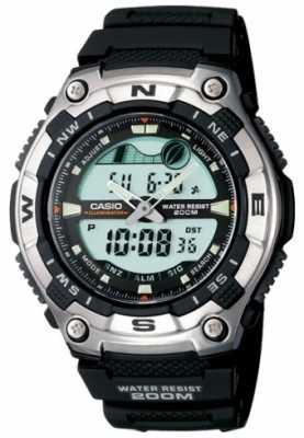 Casio Mens Resin Combi Sports Alarm AQW-100-1AVEF