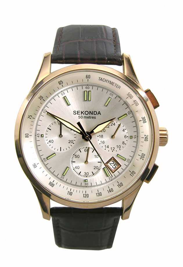 Sekonda Rose Gold Chrono As Advertised 3847 First Class Watches