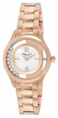 Kenneth Cole Womens Rose Gold PVD Plated Silver Dial KC4943